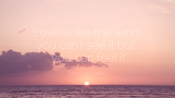 Example of how to create a design based on a romantic quote