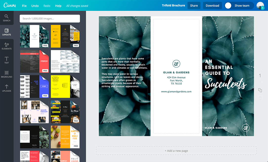 Free Online Brochure Maker Canva - Template to make a brochure