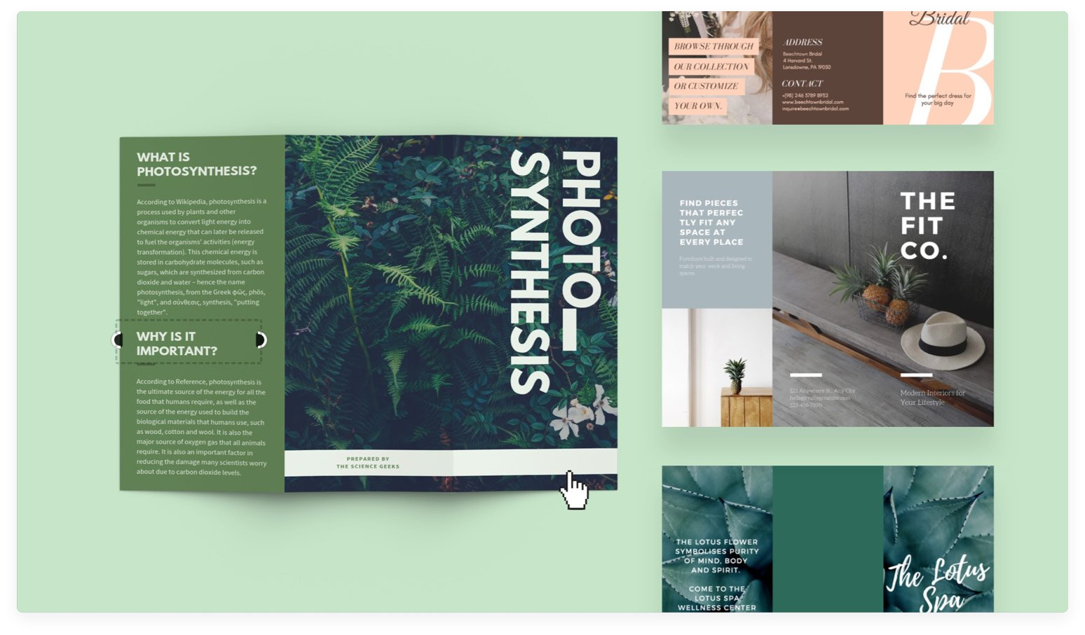 Free online brochure maker: Design a custom brochure in Canva