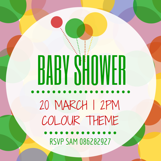 make your own baby shower invitation canva