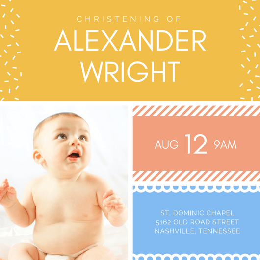 Design your own christening invitations canva stopboris Choice Image