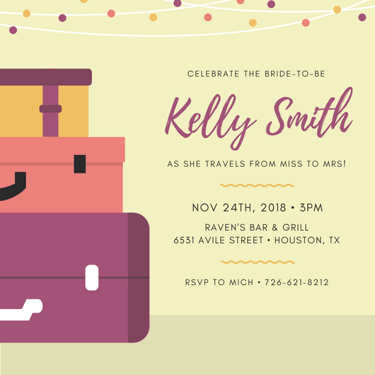 design your own bridal shower invitations canva