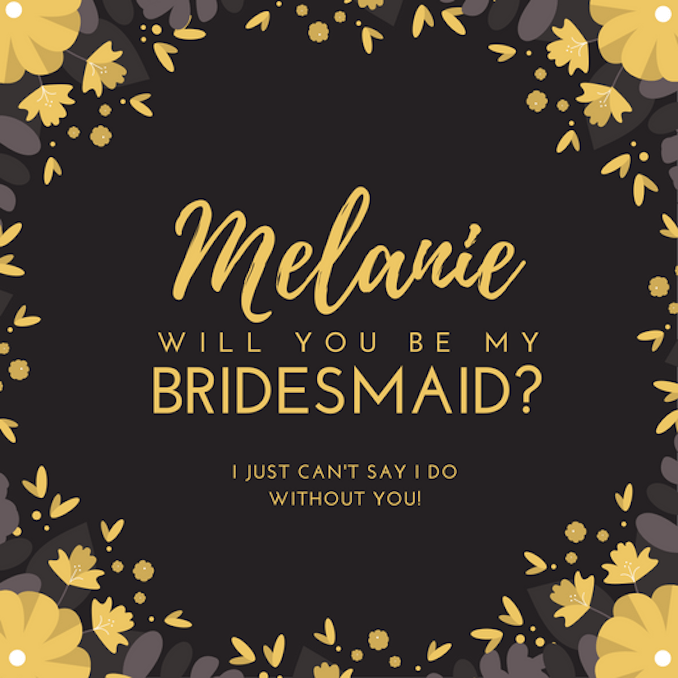 Be My Bridesmaid Invitations