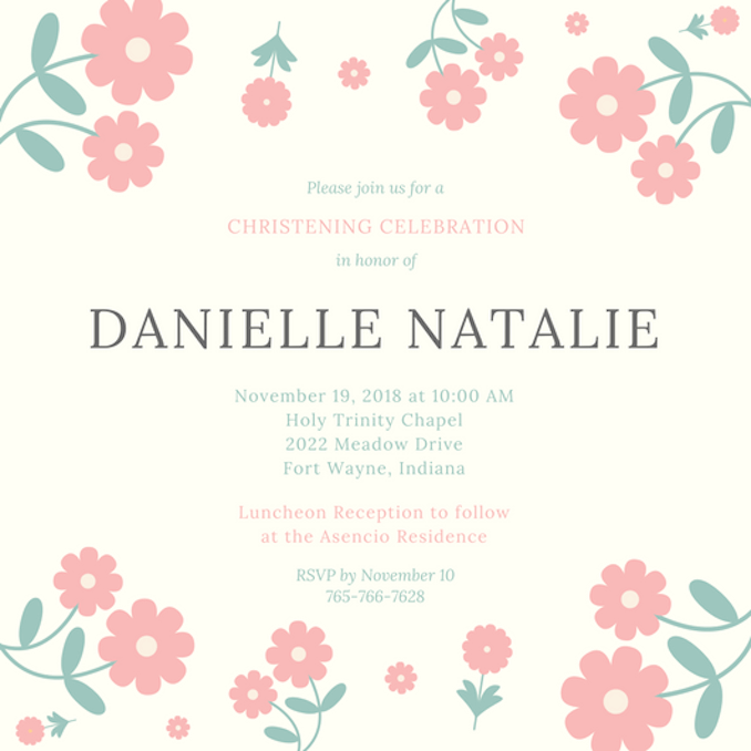 Christening Invitations  Invitations Templates