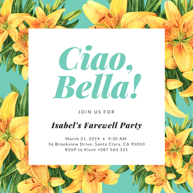 Farewell Party Invitations