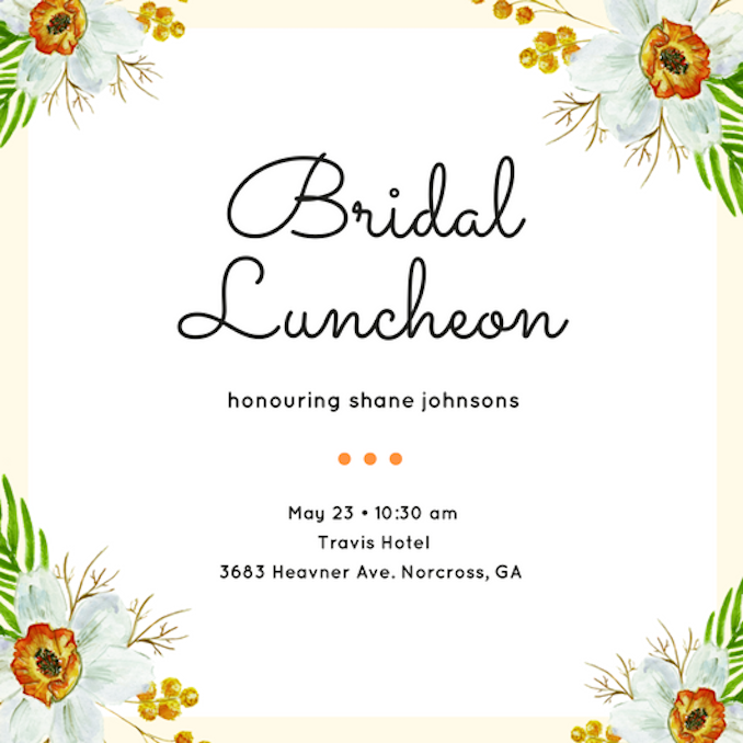 Luncheon Invitations
