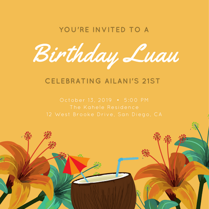 Create Invitation Template