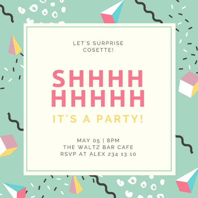 Surprise Party Invitations