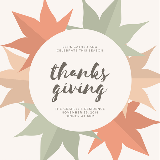 thanksgiving open house invitations