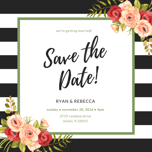 Make Your Own Save The Date Cards Canva - Microsoft save the date templates free