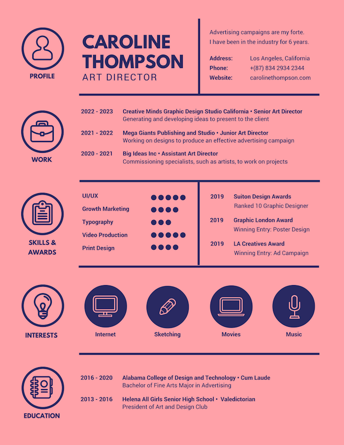 Beautiful Infographic Resumes Pertaining To Resume Designer Online