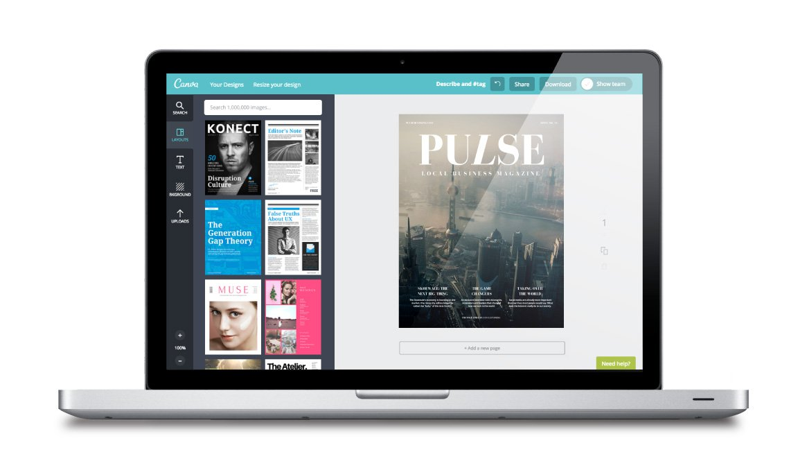Free online magazine cover maker canva for Create design online