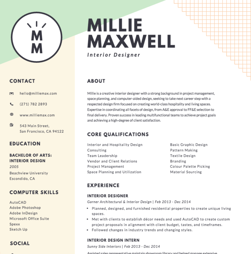 Good Free Online Resume Maker   Canva Regarding Build A Free Resume Online