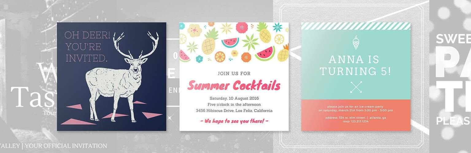 design your own party invitations  canva, invitation samples