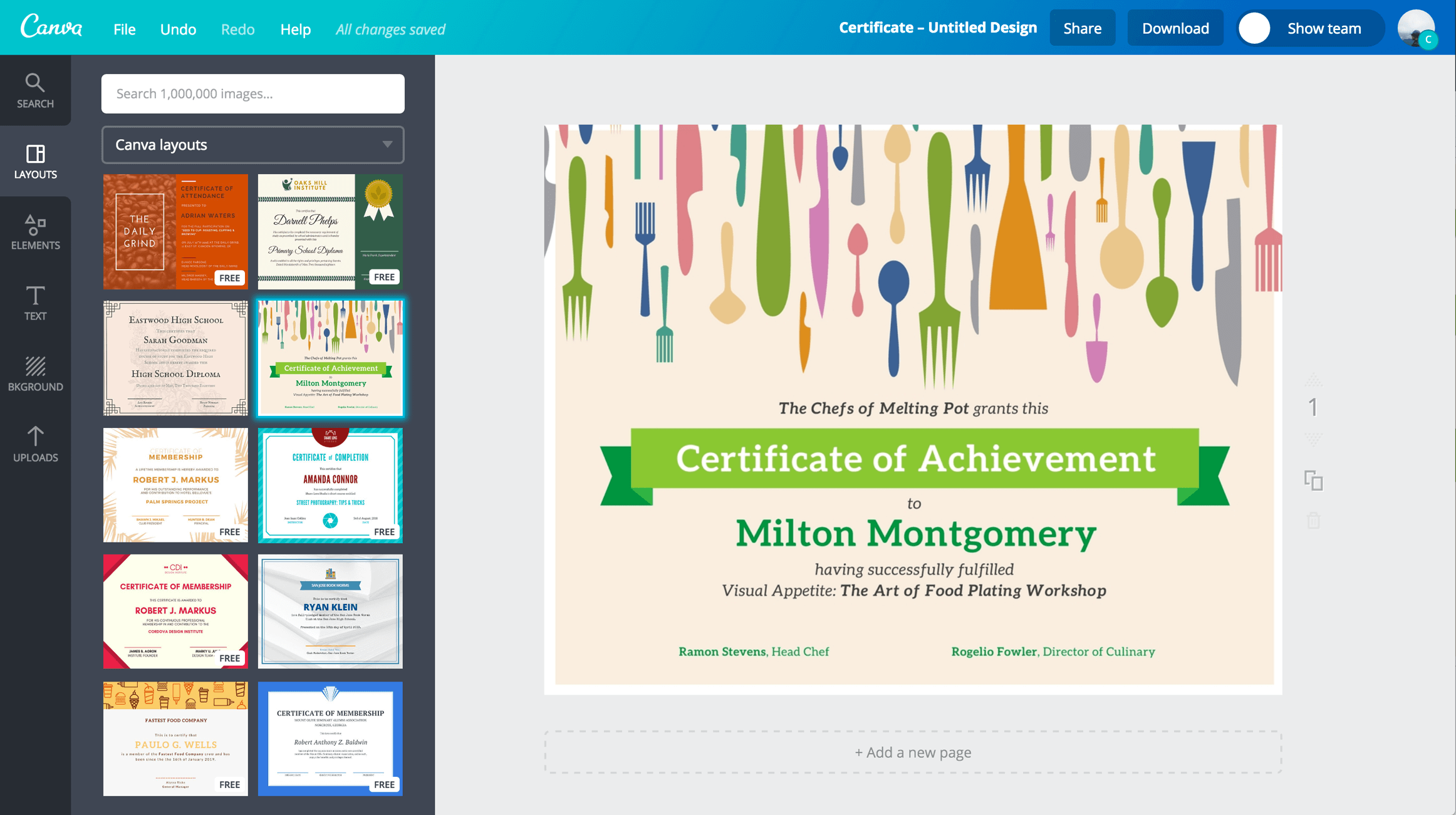 Free online certificate maker design a custom certificate for Online designs