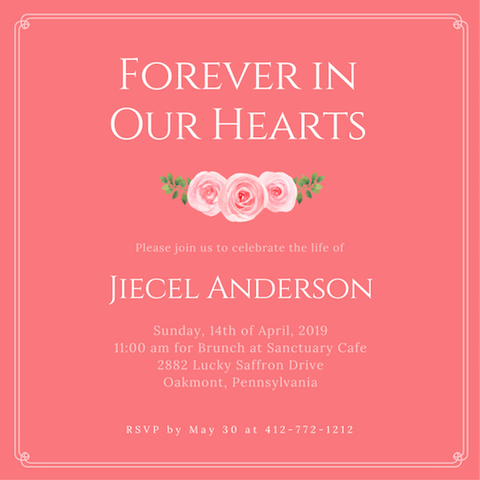 Spread The Word About The Upcoming Event With Our Wide Selection Of  Excellent Templates And Designs.  Celebration Of Life Templates