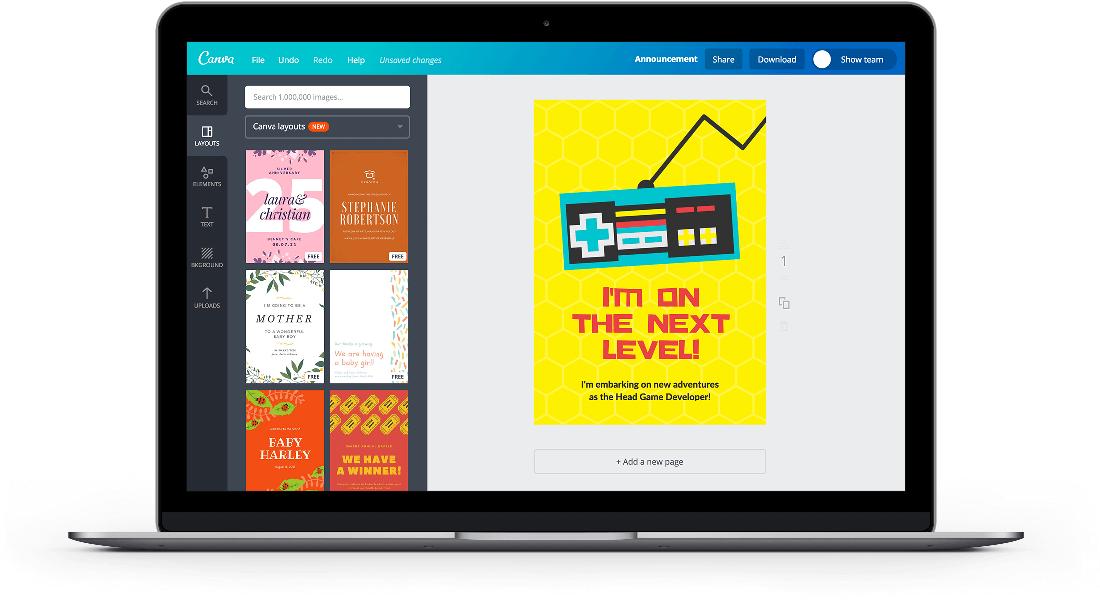Free Online Announcement Maker Design a Custom Announcement Canva – Birth Announcement Email Template