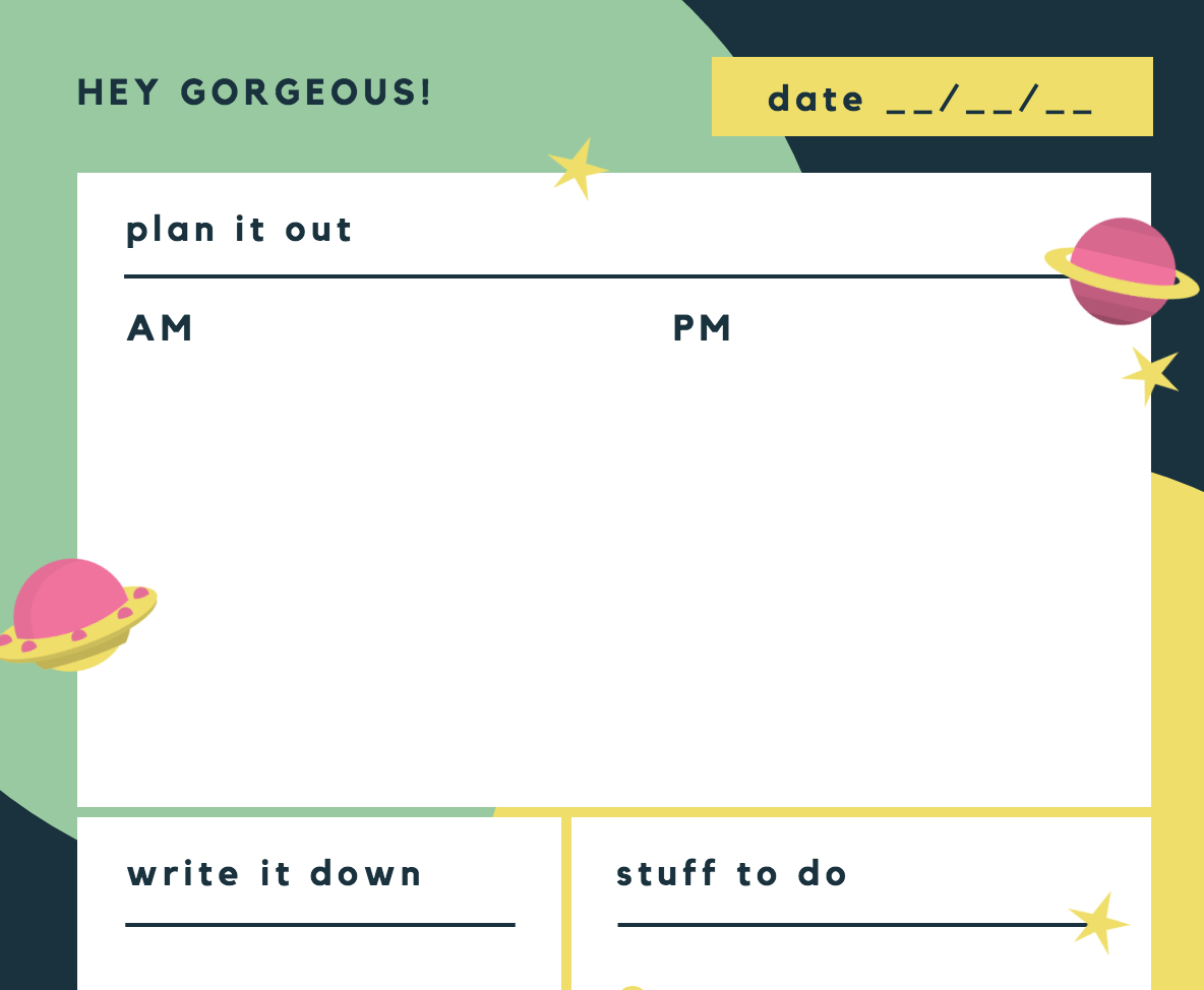 free online daily planner maker design a custom daily planner canva