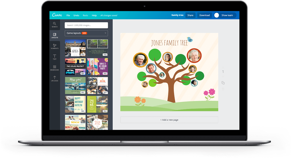 free online family tree maker design a custom family tree canva