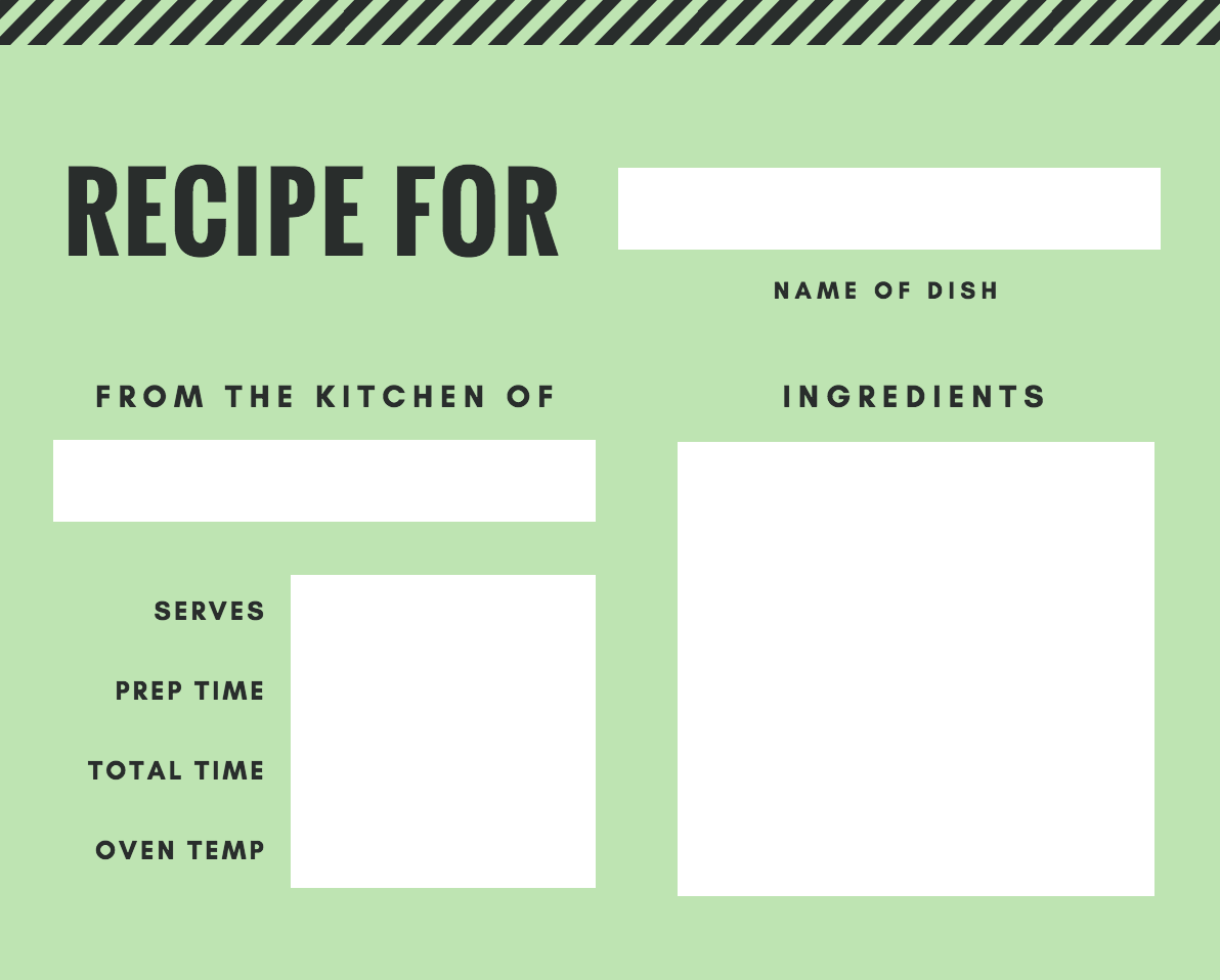 Free Online Recipe Card Maker: Design a Custom Recipe Card - Canva