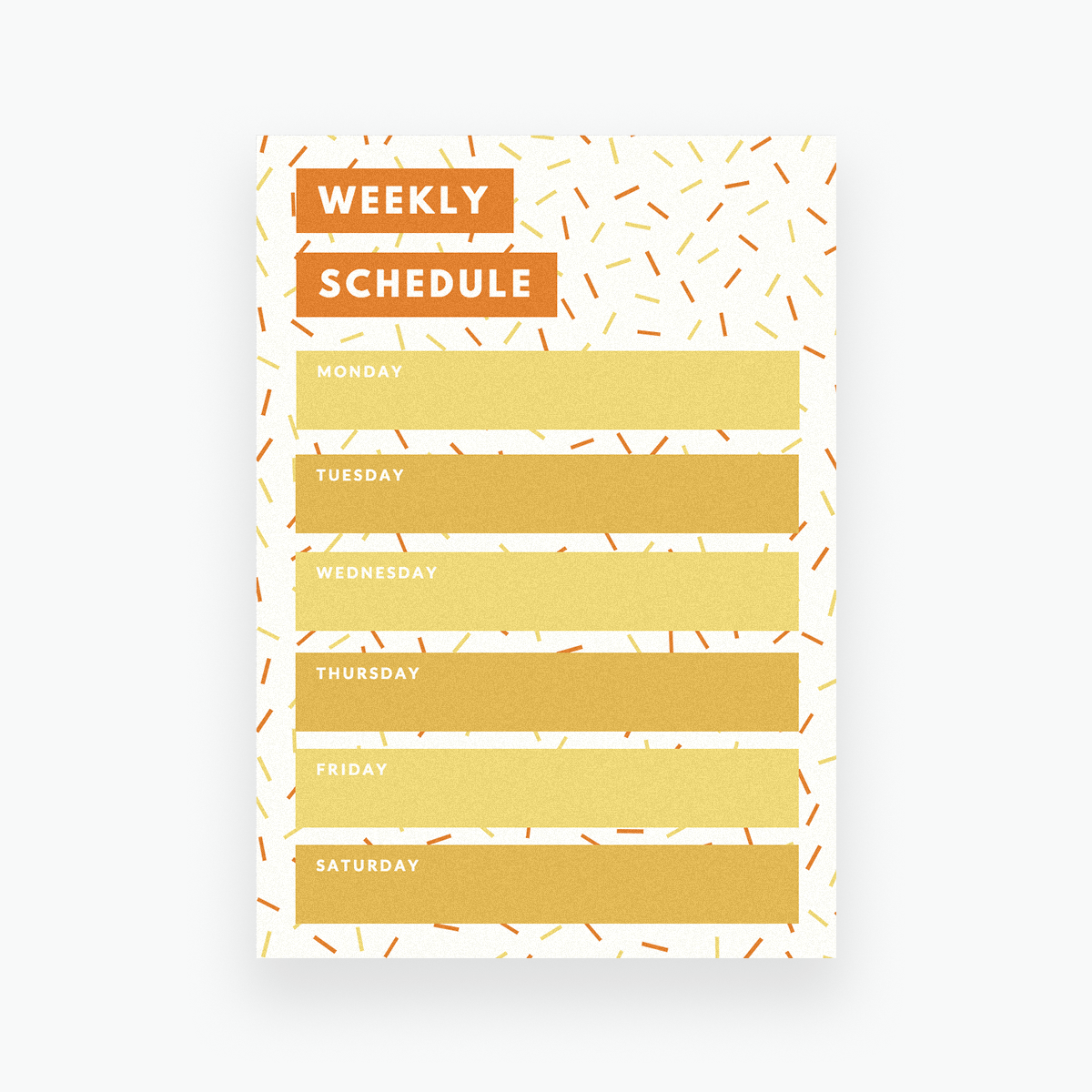 free online weekly schedule maker  design a custom weekly