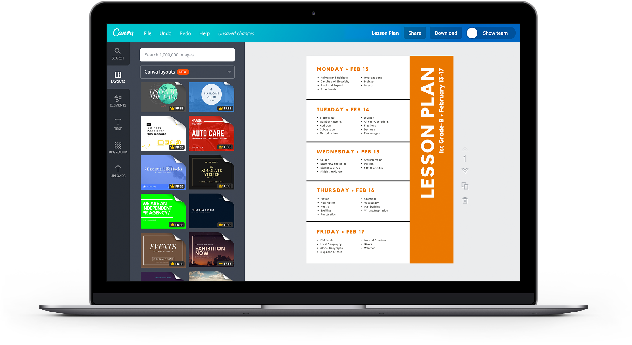 free online weekly lesson plan maker design lesson plans in canva