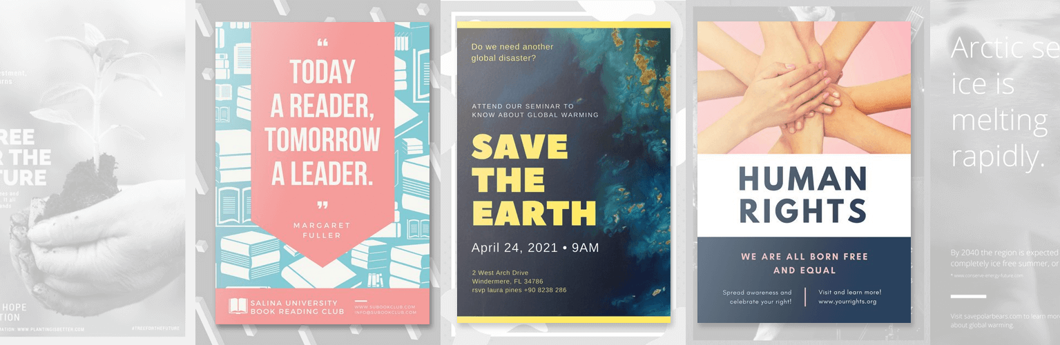 free online poster maker design custom posters with canva