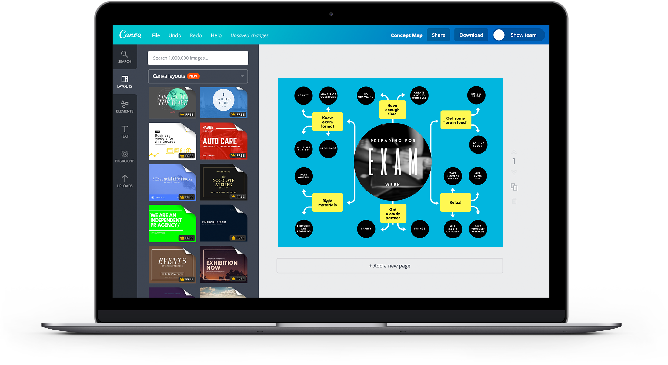Free Online Concept Map Maker Design Custom Concept Maps In Canva