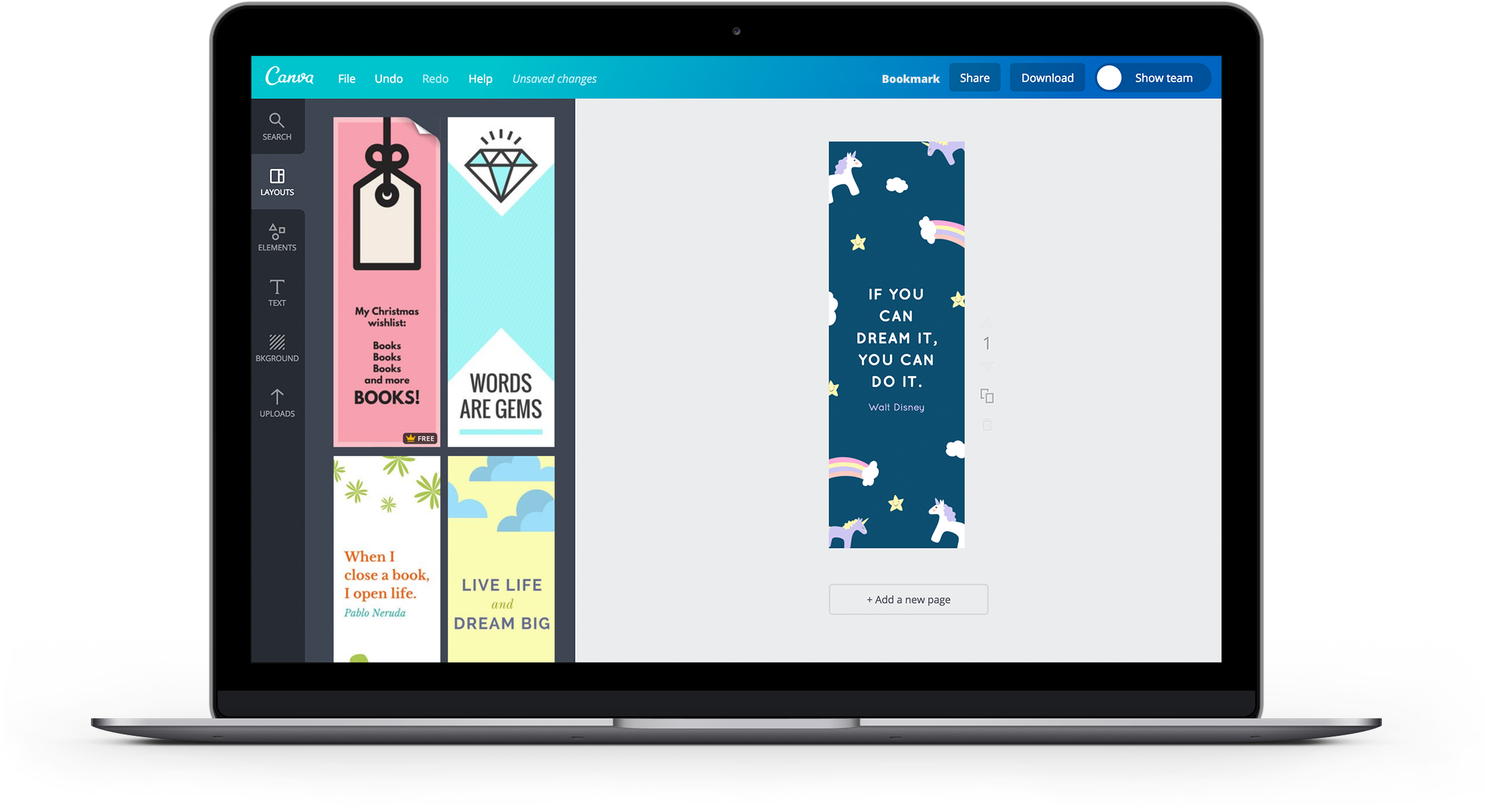 free online bookmark maker: design a custom bookmark in canva