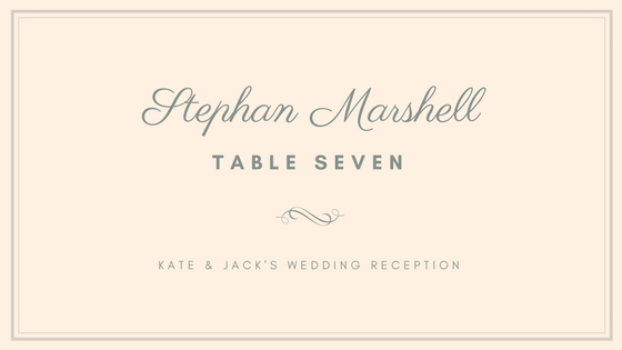 Free Online Place Cards Maker Design A Custom Place Card In Canva - Placement card template