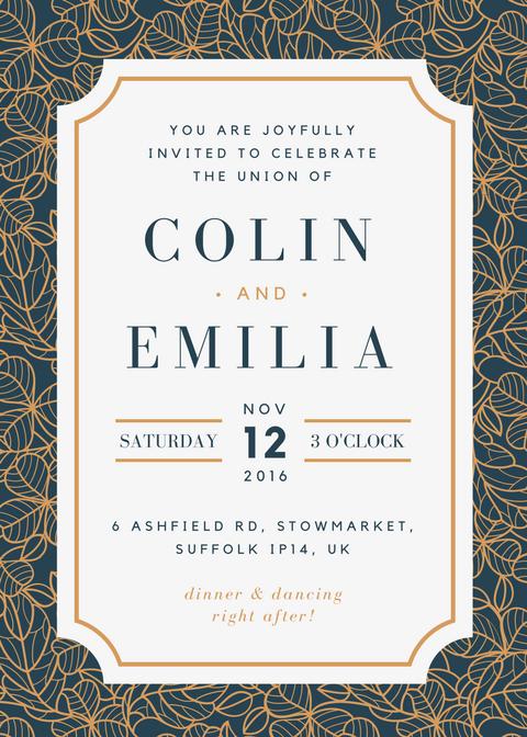 Free online wedding invitation kits design custom wedding kits in canva stopboris Image collections