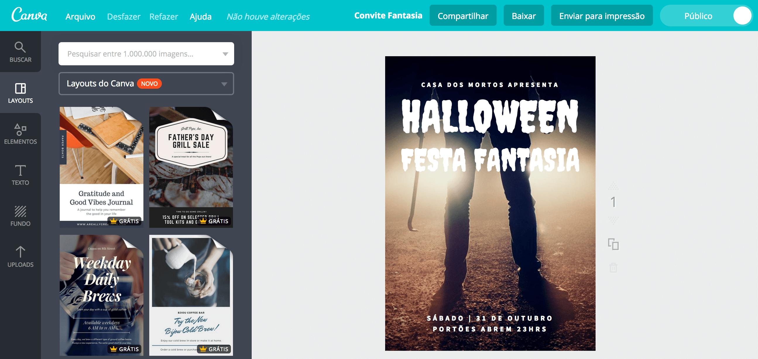 Criar Convite Para Festa à Fantasia Online Canva