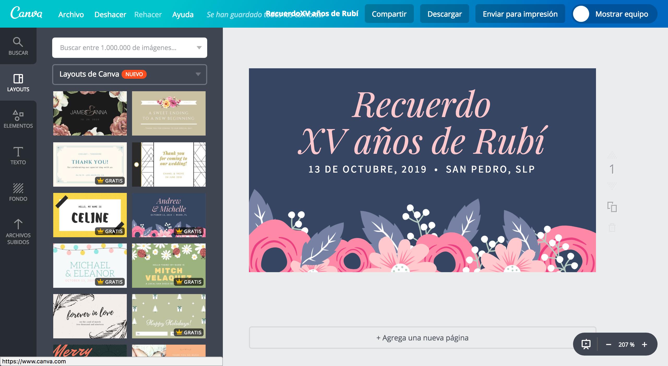 Diseña etiquetas para XV años online gratis - Canva