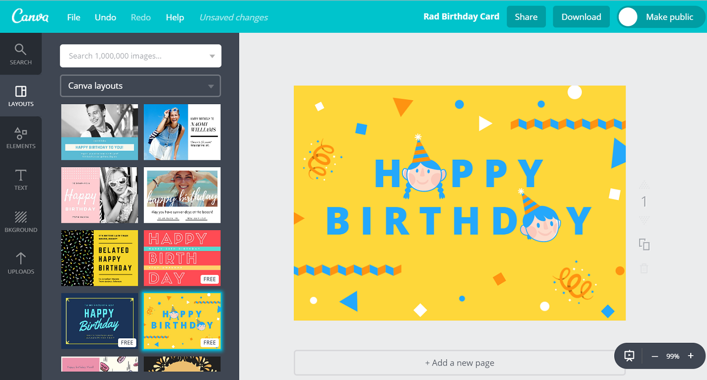 Free Birthday Greeting Card Maker Add Photo Name Canva – Birthday Text Greetings
