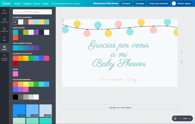 Disena Etiquetas Para Baby Shower Online Gratis Canva