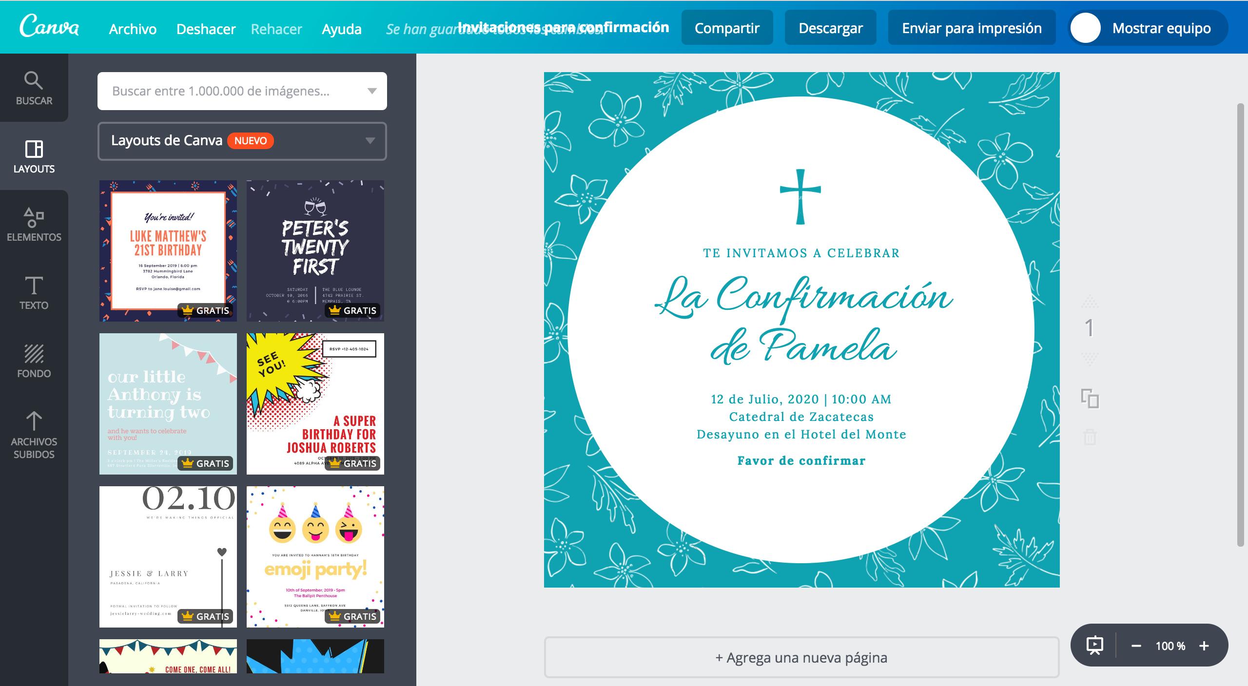 Diseña invitaciones para confirmación online gratis - Canva