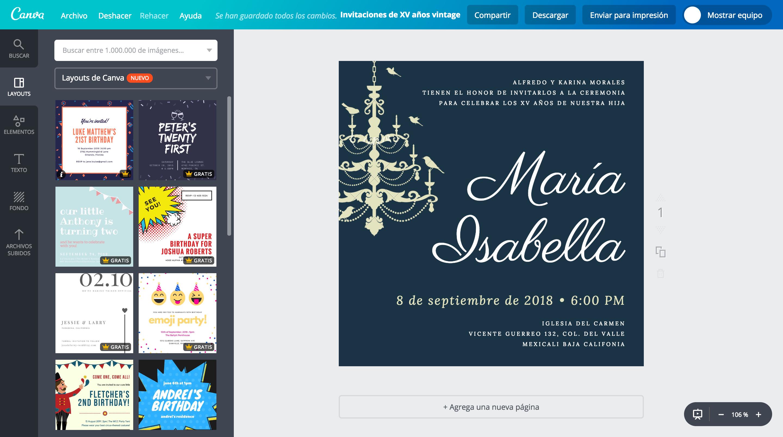 Diseña Invitaciones De Xv Años Vintage Online Gratis Canva