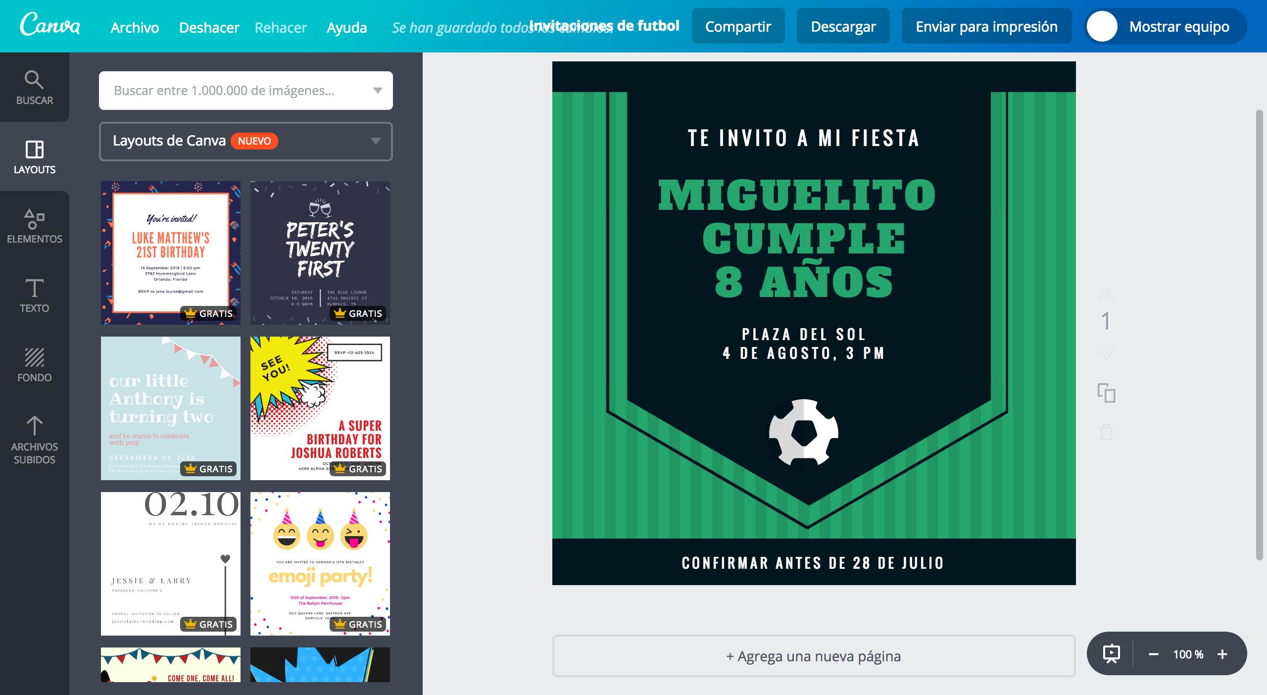 Diseña Invitaciones De Fútbol Online Gratis Canva