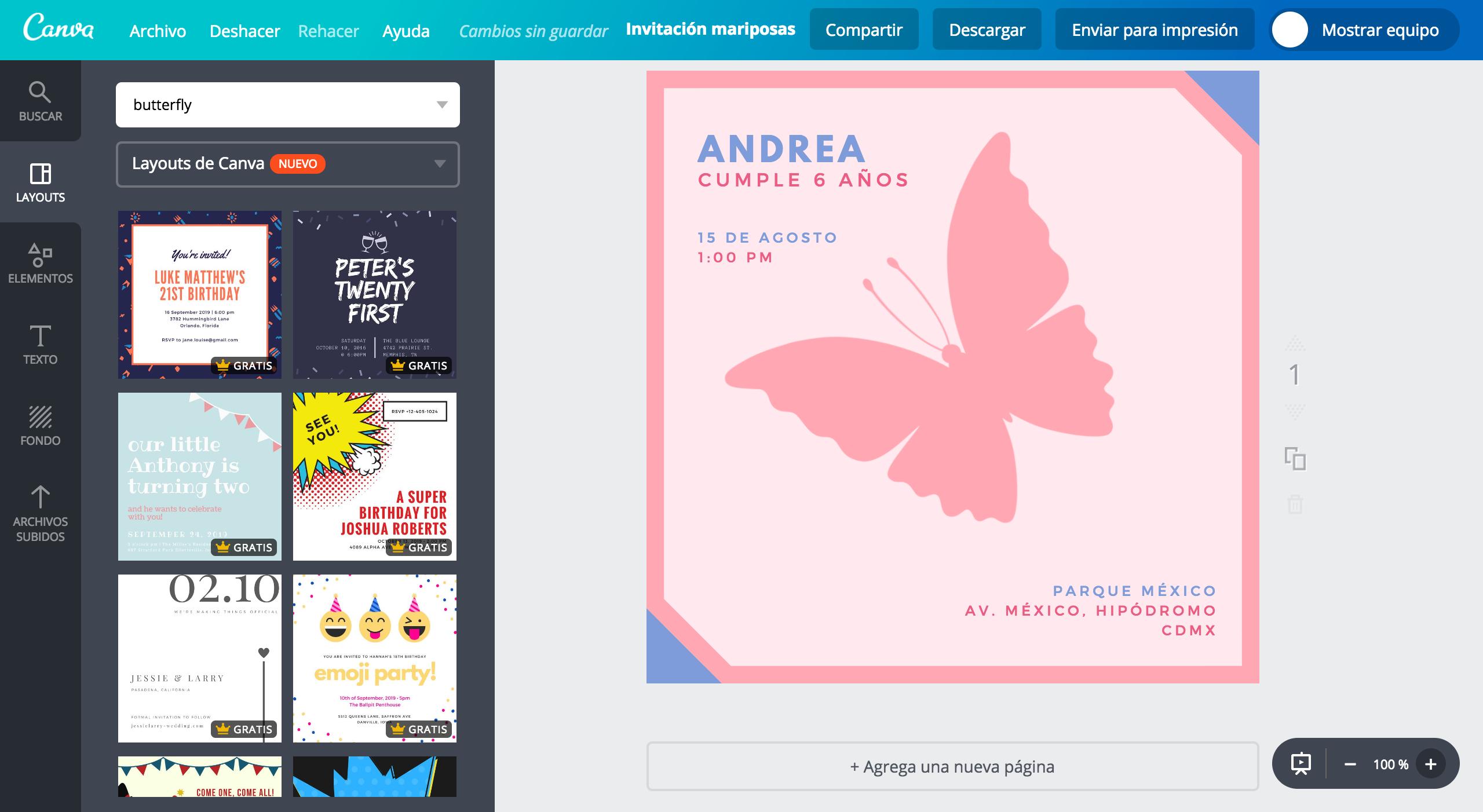 Diseña Invitaciones De Mariposas Online Gratis Canva