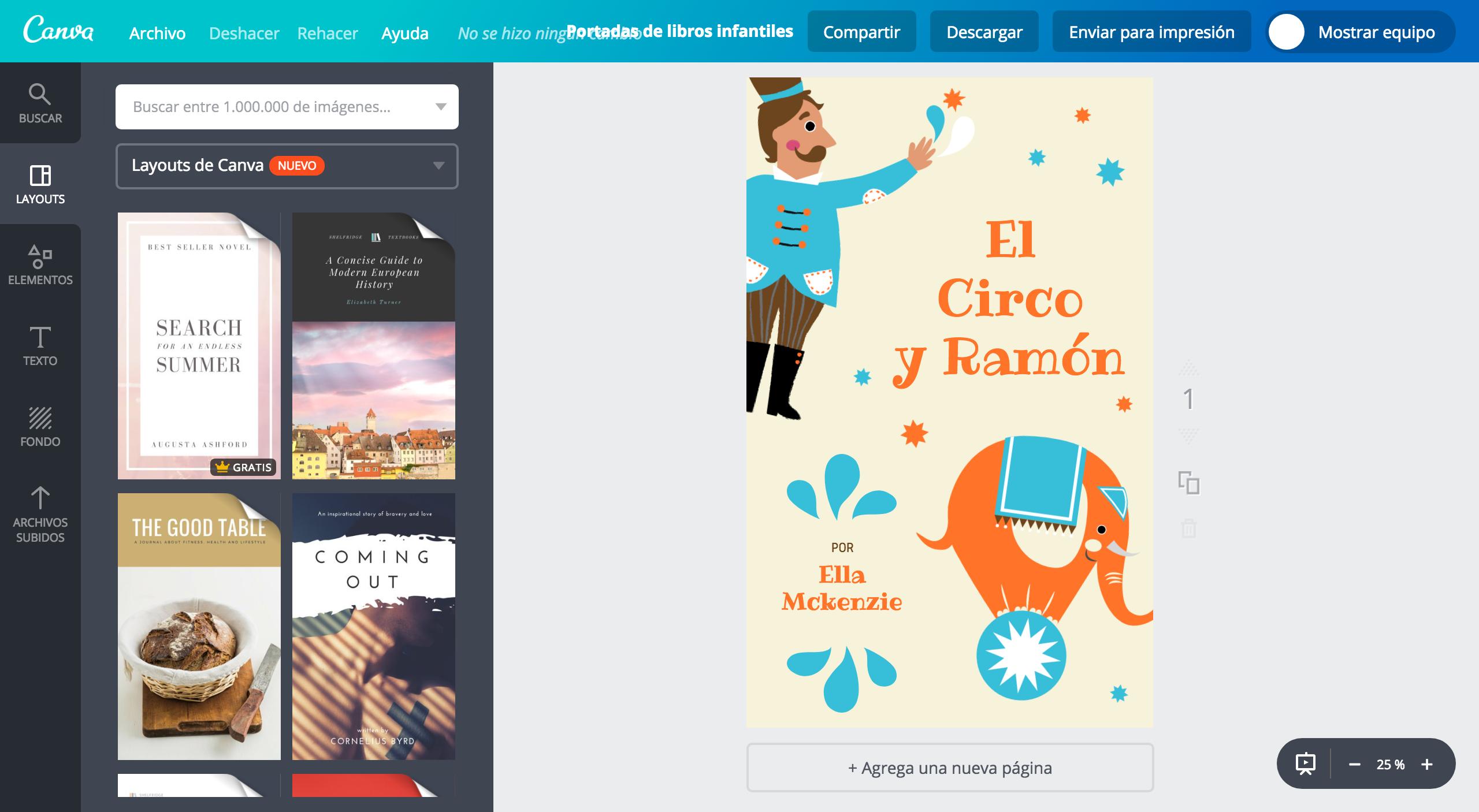 Crea portadas para libros infantiles online gratis - Canva