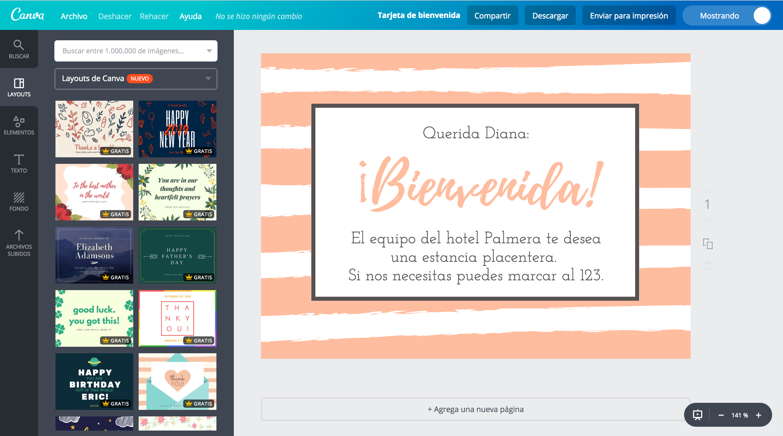 Diseña Tarjetas De Bienvenida Online Gratis Canva
