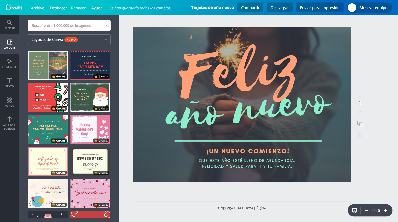 Crea Tarjetas De Año Nuevo Online Gratis Canva