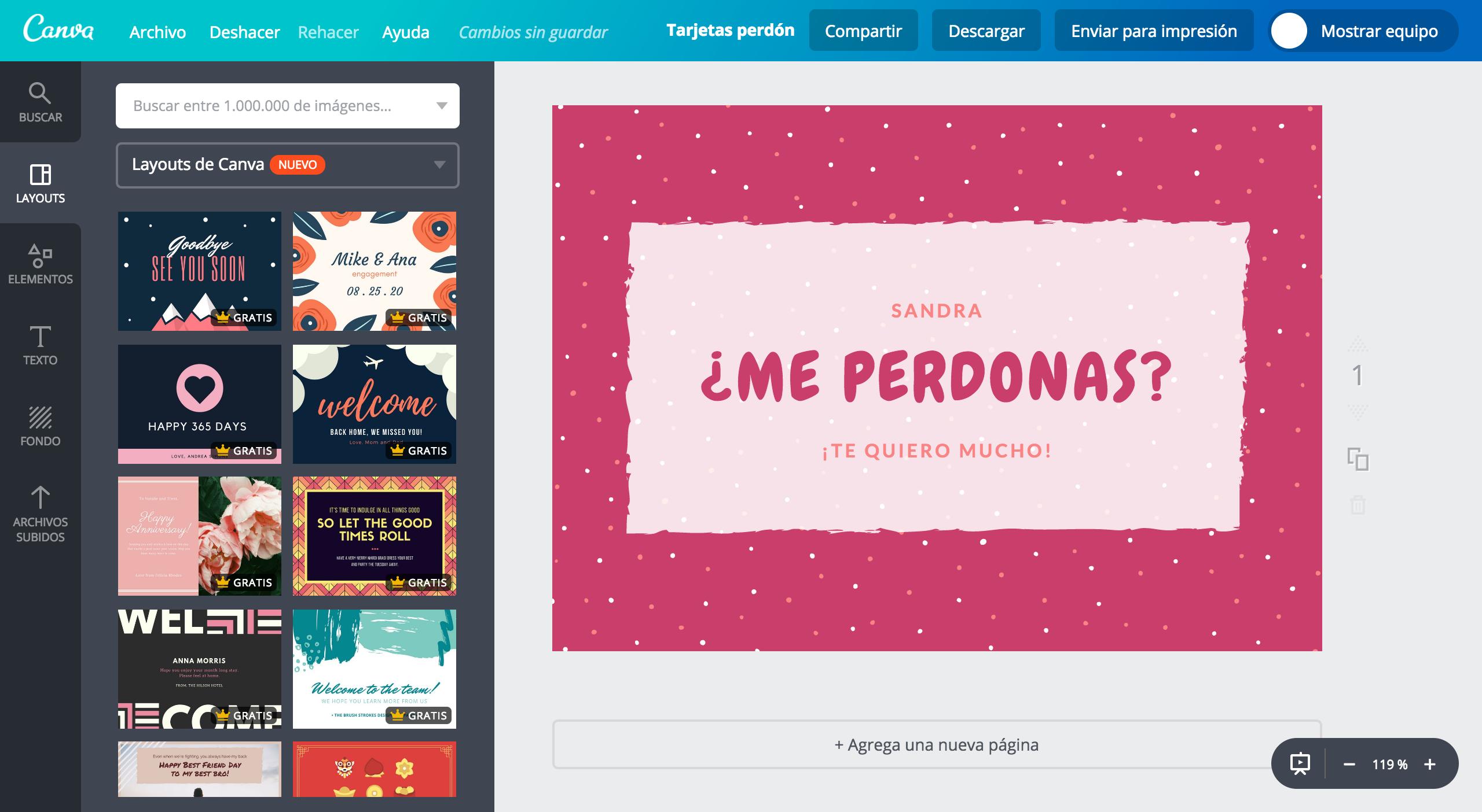 Crea Tarjetas De Perdón Personalizadas Online Gratis Canva