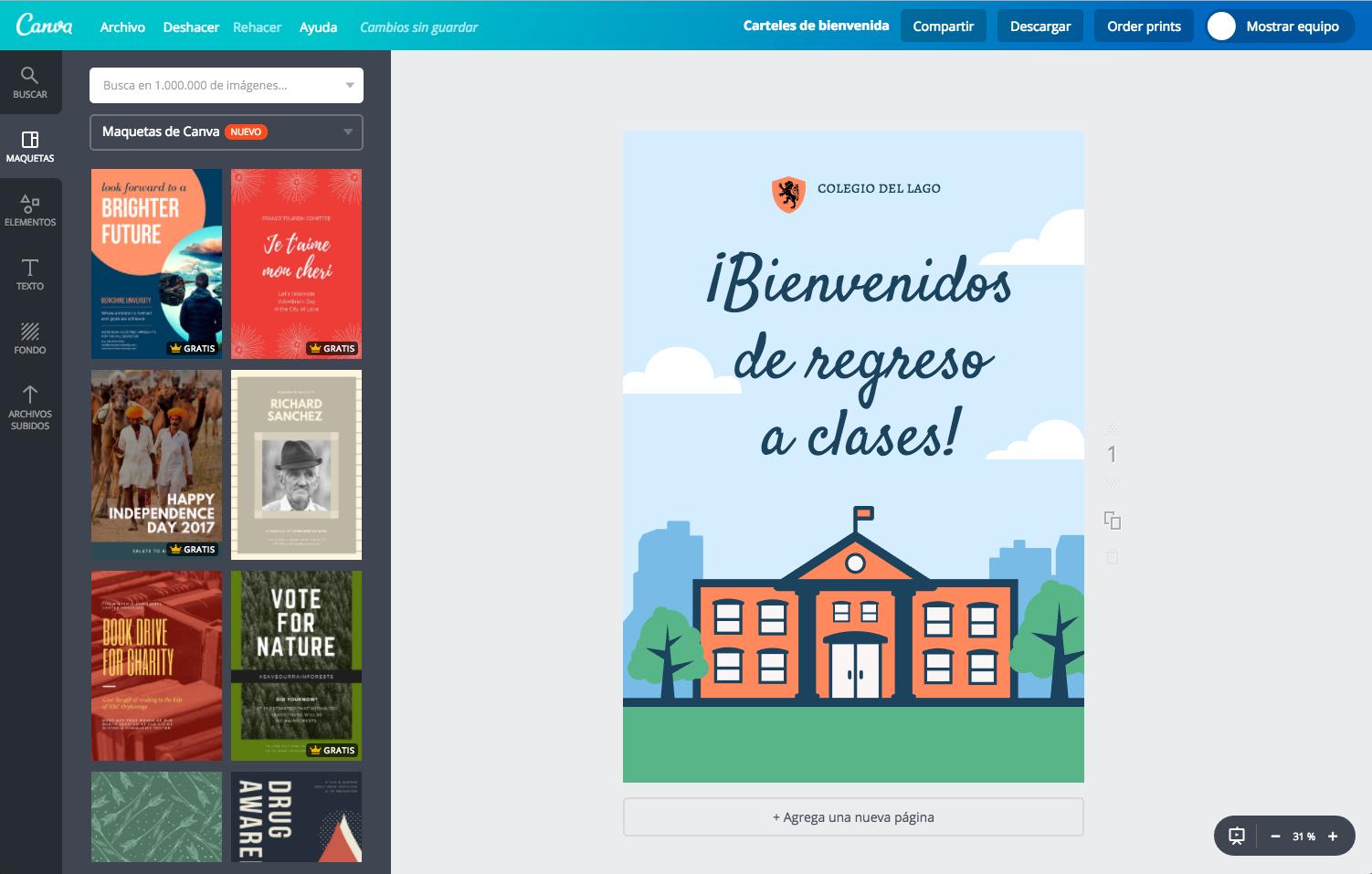 Diseña Carteles De Bienvenida Personalizados Gratis Canva