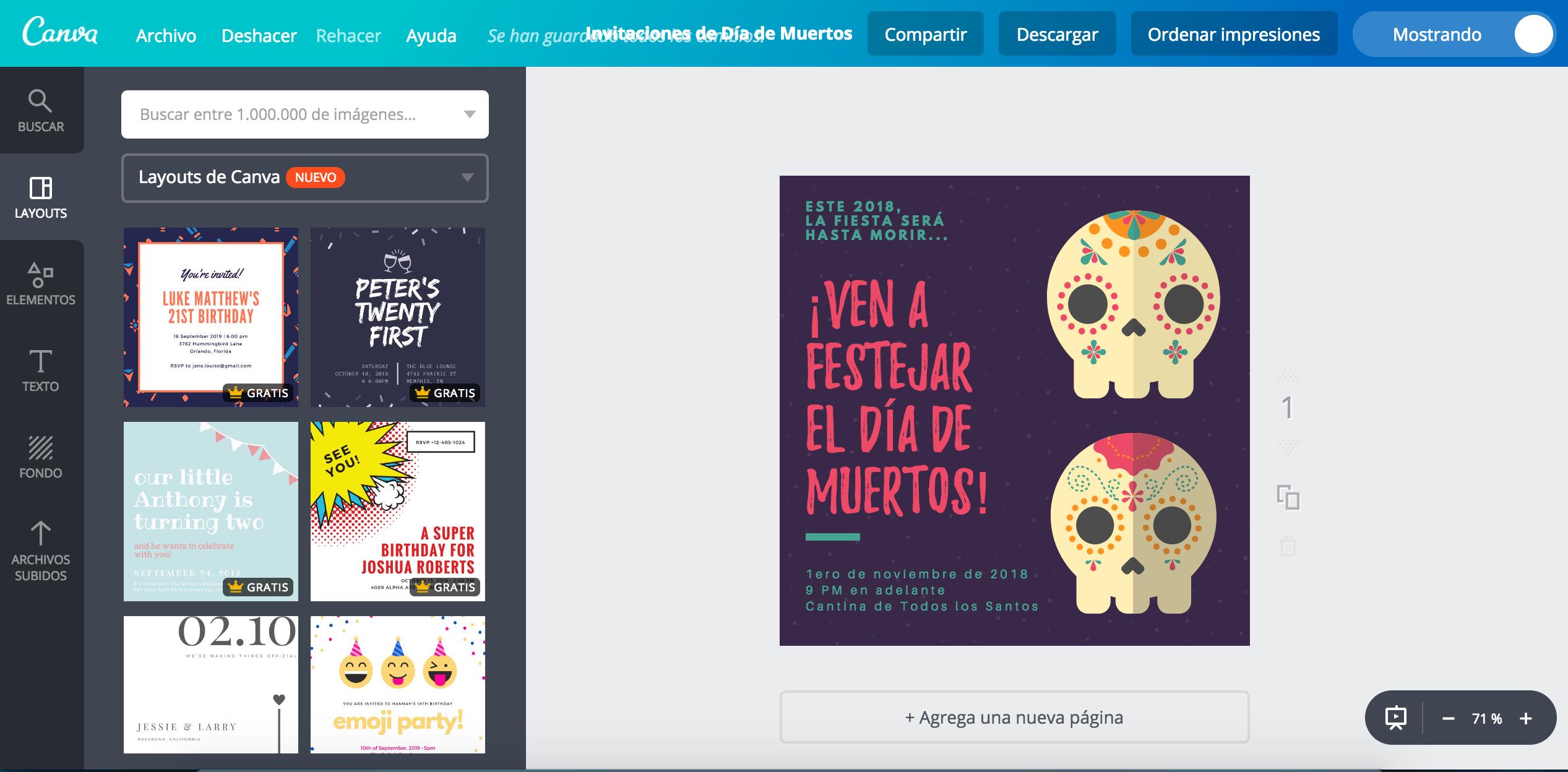 Diseña Invitaciones De Día De Muertos Online Gratis Canva