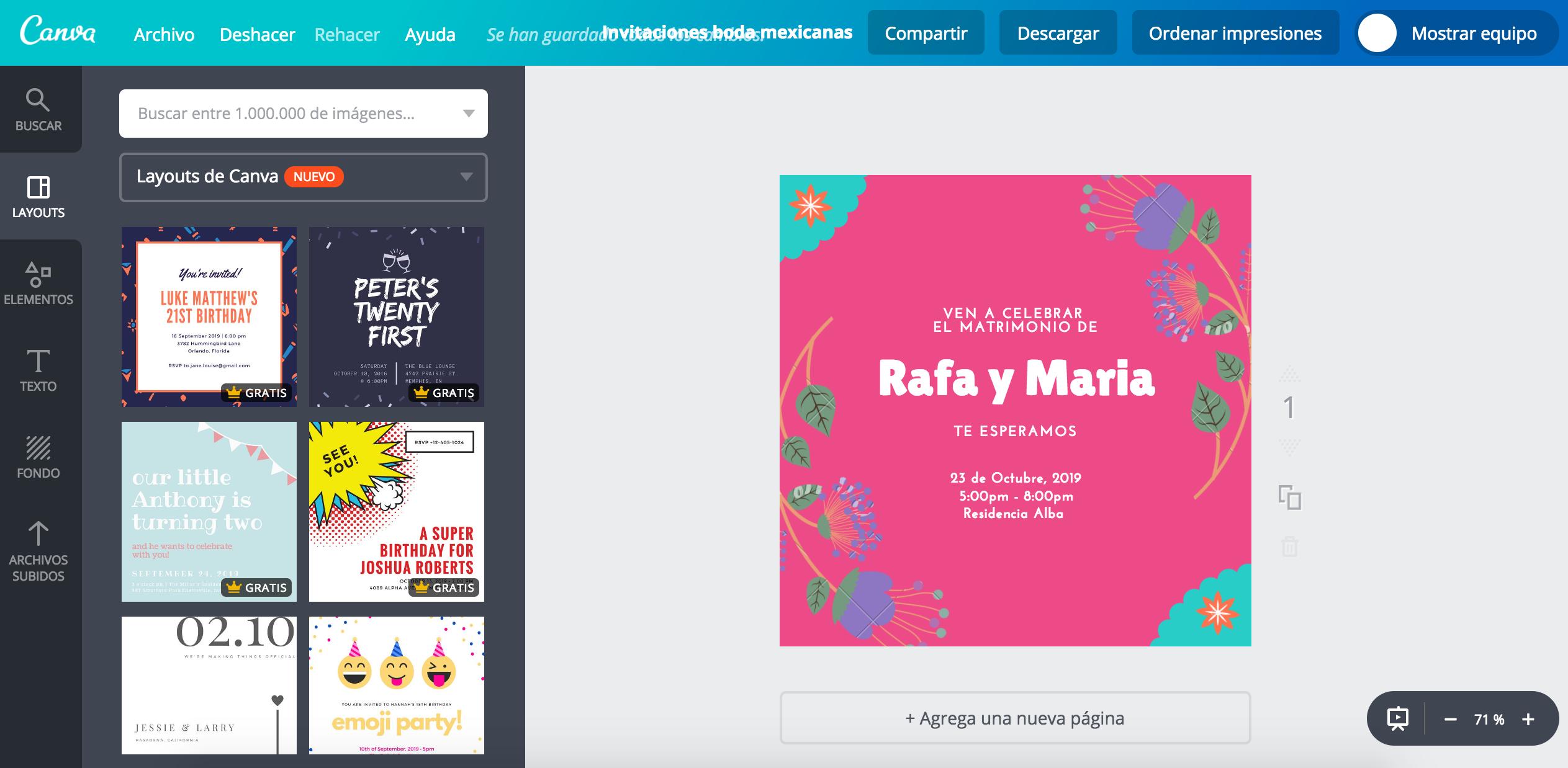Diseña Invitaciones Para Boda Mexicana Online Gratis Canva