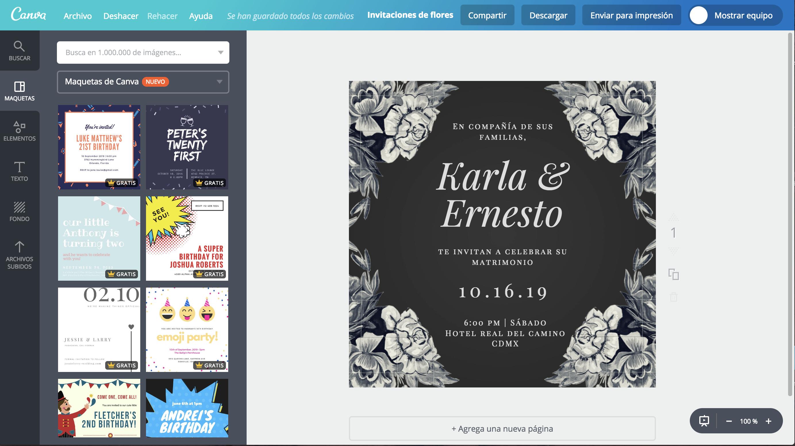Crea Hermosas Invitaciones De Flores Online Gratis Canva