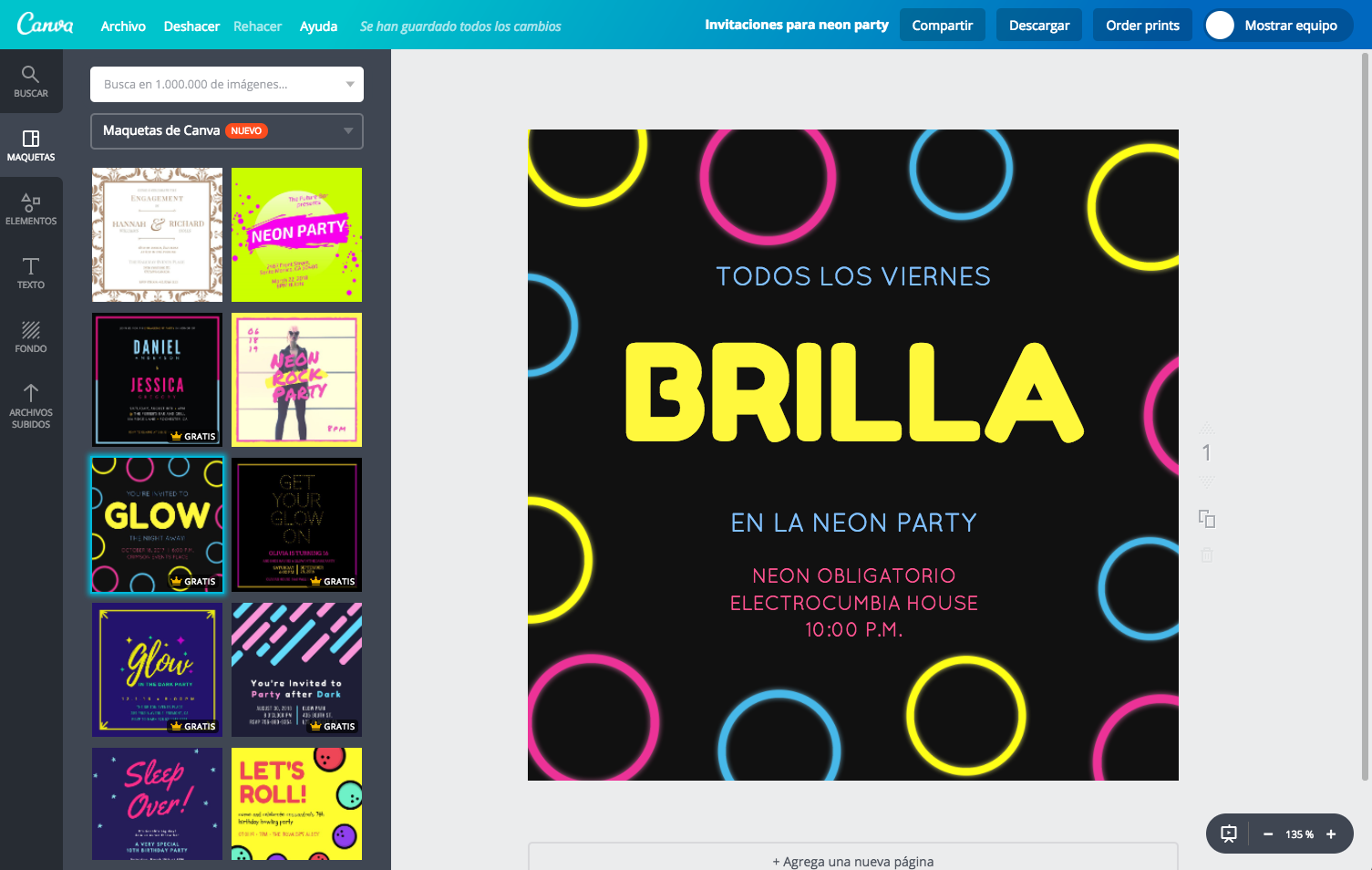 Diseña Invitaciones Para Neon Party Online Gratis Canva