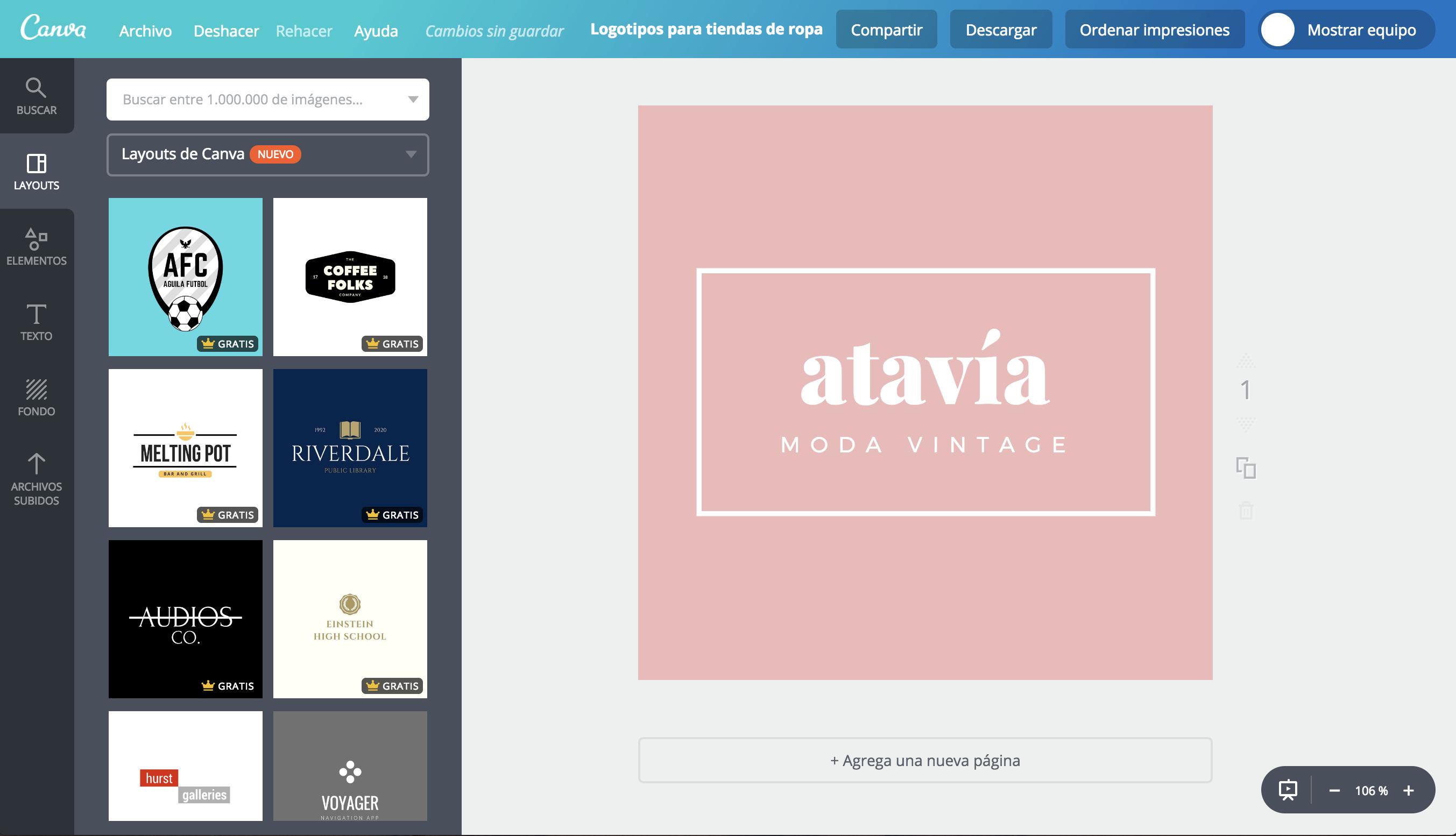 8c01e7a38a Crea un logo para tu tienda de ropa online gratis - Canva