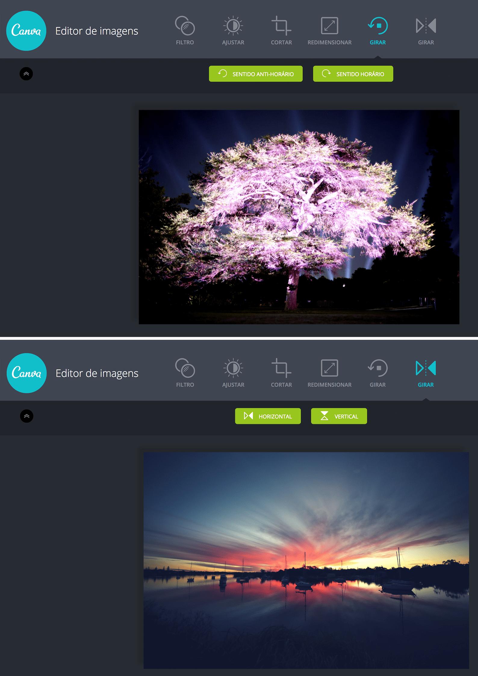 Girar e Inverter Imagens